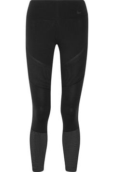 Nike - Power Legendary Mesh-paneled Dri-fit Stretch Leggings - Black - x large