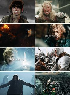 the world is cruel and vile and dark but i, i am stronger and bright as fire #lotr