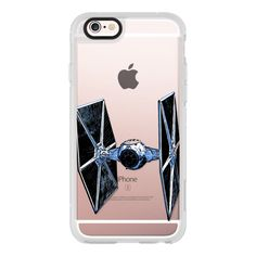 Space Fighter Semi-Transparent - iPhone 6s Case,iPhone 6 Case,iPhone... (130 BRL) ❤ liked on Polyvore featuring accessories, tech accessories, star wars, iphone case, phone cases, iphone hard case, clear iphone cases, iphone cases, iphone cover case and apple iphone cases