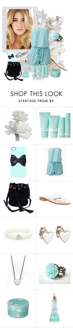 """Romper Contest"" by justjustin ❤ liked on Polyvore featuring Reed & Barton, KORA Organics by Miranda Kerr, Wet Seal, Forever 21, Sabrina Tach, Jack Rogers, FOSSIL, Jennifer Meyer Jewelry, Alex and Chloe and Lollia"