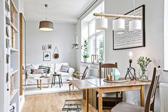 Post: Piso de 38 m² con planta abierta --> blog decoración nórdica, cocina blanca pequeña, decoración en blanco, decoración femenina, decoración mini pisos, decoración pisos pequeños, estilo nórdico escandinavo, planta abierta, open plan, diáfano, blanco