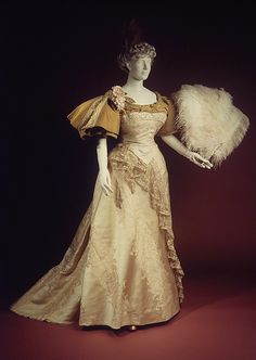 Evening dress / Date: 1894 Culture: French