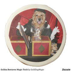 Golden Retriever Magic Trick Sugar Cookie