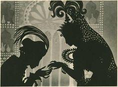 "rivesveronique: ""  The Adventures of Prince Achmed Lotte Reiniger """