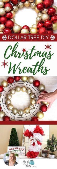 Christmas Ornament Wreath, Christmas Wreaths To Make, Christmas Balls, White Christmas, Christmas Tree Decorations, Christmas Diy, Christmas Cactus, Christmas Lights, Christmas Vacation