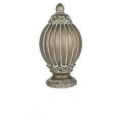 Victorian finial for 1 inch metal curtain rods