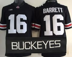 Ohio State Buckeyes NO.16 BARRETT BLACK Football Jersey 6d2bd61db