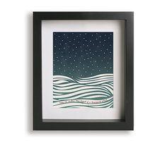 Thinking Out Loud / Ed Sheeran - Song Lyric Art Print, wedding gift idea, home decor, wall art, wall decor, anniversary gift, modern art