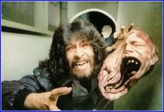 """Rob Bottin with his monster creation for John Carpenter's 1982 version of """"The Thing"""" (no I don't have a print of this.ok I totally do) Horror Films, Horror Art, The Thing 1982, Special Effects Makeup Artist, Who Goes There, Cinema, Vintage Horror, Animation, About Time Movie"""