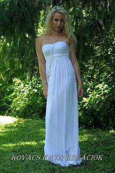 Ethereal Grecian Goddess Wedding Gown  Helena by KataKovacs, $450.00