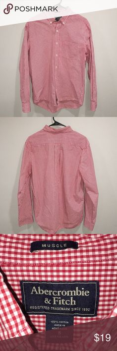 MENS ABERCROMBIE AND FITCH BUTTON UP SHIRT EXCELLENT USED CONDITION Abercrombie & Fitch Shirts Casual Button Down Shirts
