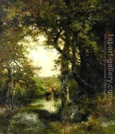 Pool in the Forest, Long Island by Thomas Moran