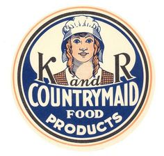 vintage countrymaid food products label
