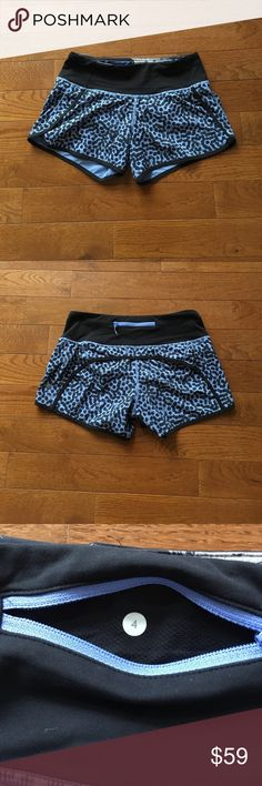 """🔥Lululemon Speed Shorts-HTF🔥 Lululemon speed shorts-Ace Spot Lullaby-HTF Print. Black with light purple spots. Back zip pocket, 2 gel pockets, never ending drawstring at the waist, 4 way stretch, 2 1/2"""" inseam. Check out my closet for tons of other lulu and athleta items!! Bundle and save-🚫lowball offers lululemon athletica Shorts"""