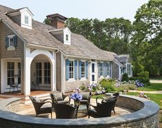 Photos of fine Cape Cod Homes - Fool's Paradise - Cape Cod Architects...garden wall