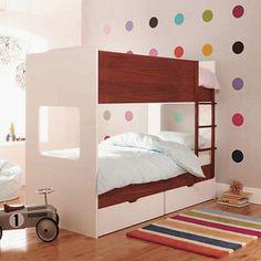 Modern Kids Room with Rainbow Polka Dot Decorations