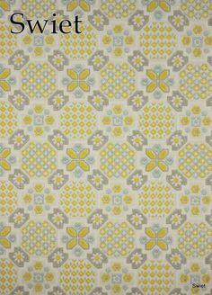 behang geel grijs