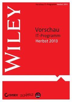 Wiley Vorschau IT-Programm Herbst 2013