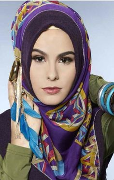 Head scarves  Pretty and beautiful ladies fashion Muslim muslimah in hijab.  Islam Alhamdulillah