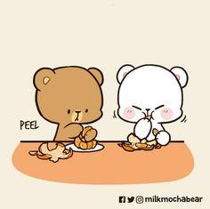 Cute Bear Drawings, Bear Images, Cute Love Gif, Cute Love Cartoons, Cute Panda, Cute Bears, Cute Images, Cute Characters, Anime Love