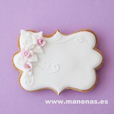 Cartel nombre en rosa Fancy Cookies, Valentine Cookies, Iced Cookies, Cute Cookies, Birthday Cookies, Cupcake Cookies, Cupcakes, Cookie Icing, Royal Icing Cookies
