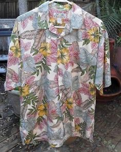 Hawaiian Shirt Medium Cotton  Blend Kona Kai #seedescription #Hawaiian