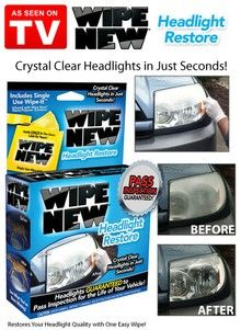 Wipe New Headlight Restore - As Seen on TV