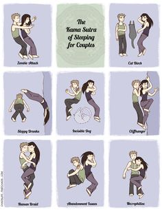 The Karma Sutra of sleeping for couples. Cute :)