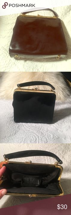 LIZ Claiborne Vintage Patton Leather Purse Vintage Patton Leather Liz Claiborne purse... Perfect for the modern Diva with a vintage flare. Carries all your modern day necessities: cell phone, feminine products, powder case,lipstick, credit card, ... even room fir a small flask! Liz Claiborne Bags Clutches & Wristlets