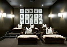 dark and cozy theatre room #Repin By:Pinterest++ for iPad#