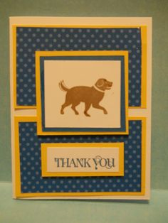 Stampin' Up! Dog Thank You Card