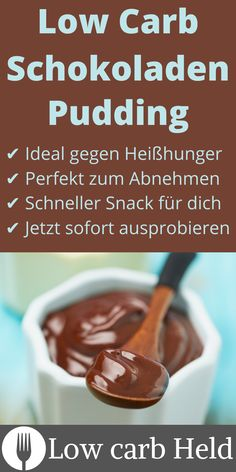 Extrem leckerer low carb Schokopudding zum schnell Abnehmen. Jetzt ausprobieren! Low Carb Desserts, Beef, Breakfast, Nevada, Food, Schumacher, Jun, Paris, History