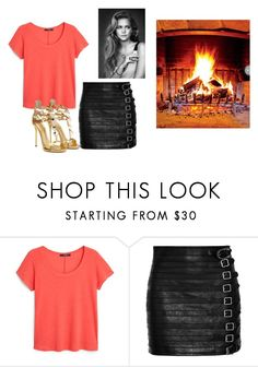 """""""Untitled #14067"""" by jayda365 ❤ liked on Polyvore featuring MANGO and Gucci"""