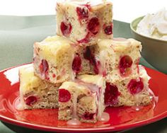 Cranberry Mascarpone Cake with Creamy Butter Sauce