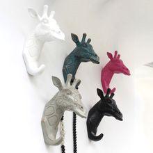 Pausado a ver el retro creativo europeo jirafa resina ganchos de pared decorativos tapices accesorios para el hogar sala de estar casera(China (Mainland))