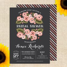 Rustic Bridal Shower Invitation DIY PRINTABLE. $20.00, via Etsy.