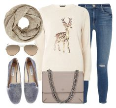 """""""Deer"""" by monmondefou ❤ liked on Polyvore featuring Frame Denim, Dorothy Perkins, Tory Burch, Steve Madden, John Lewis and beige"""