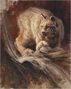Lynx !---Greg Beecham, painter of animals and more.