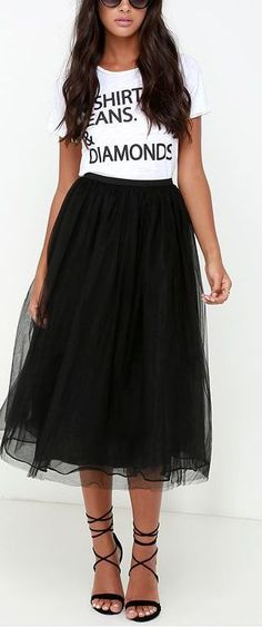 nice Jupon en tulle : black tulle skirt...