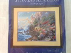 Thomas Kinkade The Light of Peace Counted Cross Stitch 14x11 #51009 Candamar #CandamarDesigns #Frame