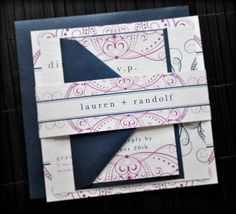 Divinity Wedding Invitation Suite with Belly Band  by lvandy27, $3.99