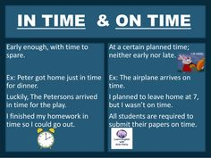 IN TIME & ON TIME #LearnEnglish @AntriParto