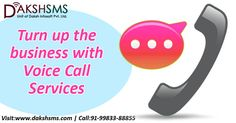 Turn up the business with Voice Call Services #VoiceCallServicesDelhi #VoiceCallServicesMumbai #VoiceCallServicesBangalore
