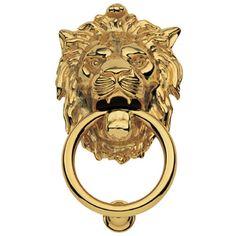 Martinelli Polished Brass Leone Door Knocker Small Acorn Manufacturing Door Knockers