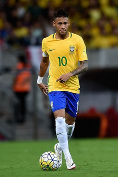 One of the world's best players Neymar with the ball.