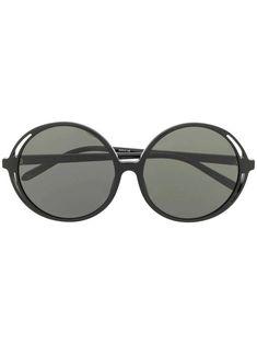 Linda Farrow Circle Frame Sunglasses - Women's style: Patterns of sustainability Circle Sunglasses, Sunglasses Women, Sunglasses Accessories, Women Accessories, Linda Farrow, Sunglass Frames, African Fashion, Lenses, Women Jewelry