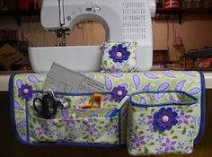 Sewing Machine Mat Organizer Tutorial - pockets, thread catcher, trash bag