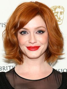 A wide-barrel curling iron gives a chin-length bob uplift and movement—just ask Mad Men's Christina Hendricks.