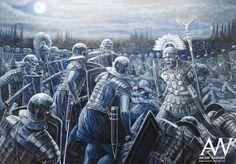 Вторая битва при Бедриаке (Кремоне), 69 год. Бой на Постумиевой дороге. Художник Seán Ó'Brógáín.