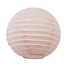 Mini lanterne en papier rose clair